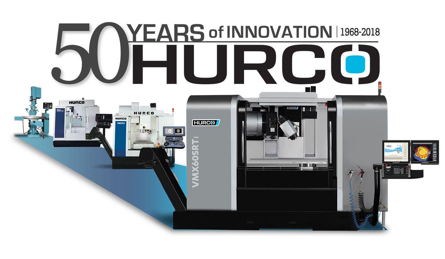 HURCO Jubiläum - 50 Jahre HURCO Werkzeugmaschinen